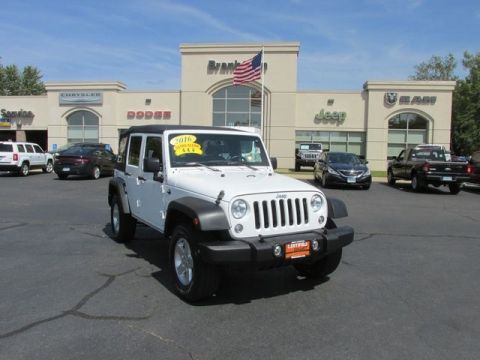 CERTIFIED 2016 JEEP WRANGLER UNLIMITED SPORT 4WD
